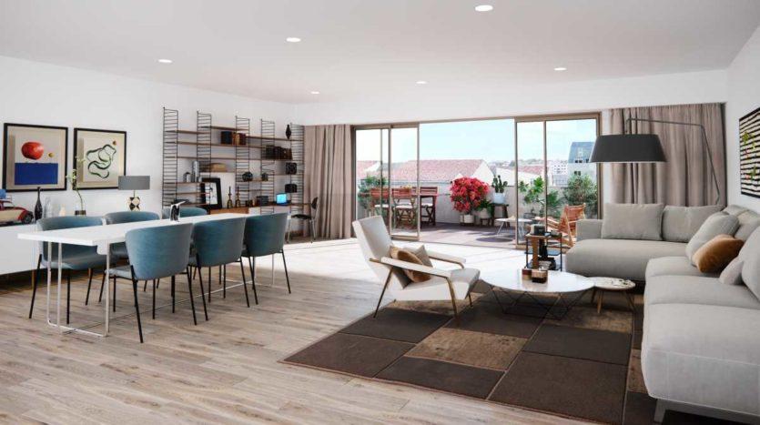 Appartement terrasse neuf Bordeaux Rivière