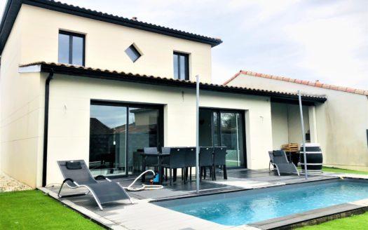 Maison 130m² 3ch jardin piscine garage
